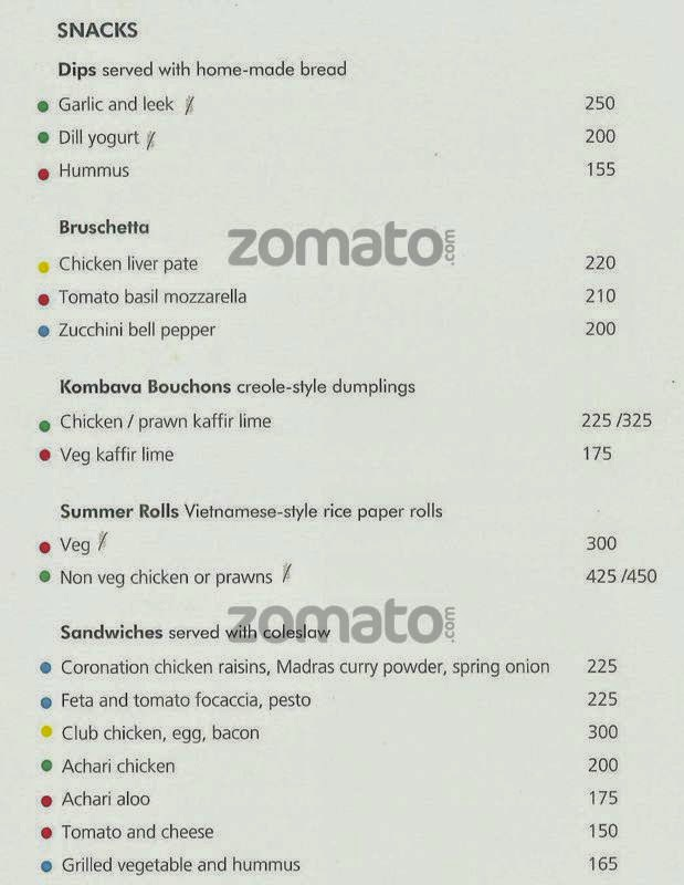 Kombava Cafe: Menu