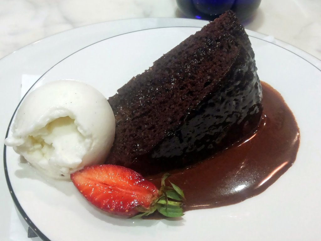 Pizza Express: Chocolate fudge cake