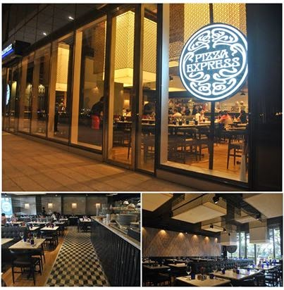 Pizza Express: Outside and inside views
