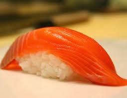 San Qi: Appetiser salmon & rice