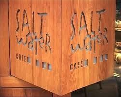 Salt Water Cafe: Sign