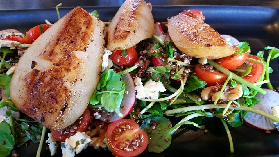 Vyve: Poached pear salad