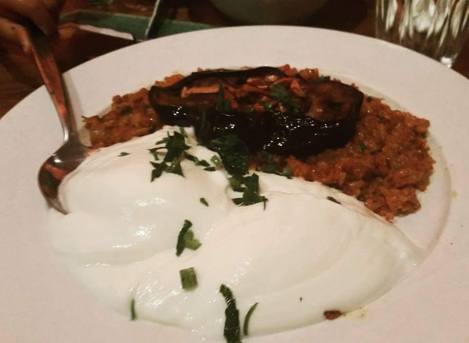 Moroccan Soup Bar: Eggplant turnover