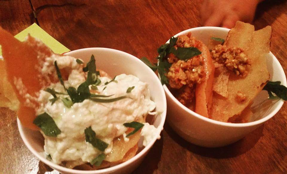 Moroccan Soup Bar:  Entree dips and pita
