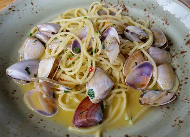The seafood spaghetti dish comprises a modest serving which lies drenched in a buttery emulsion that is light yet comforting.